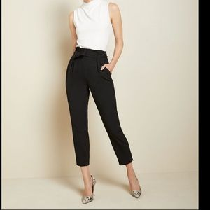 RW & Co paper bag pants with tie